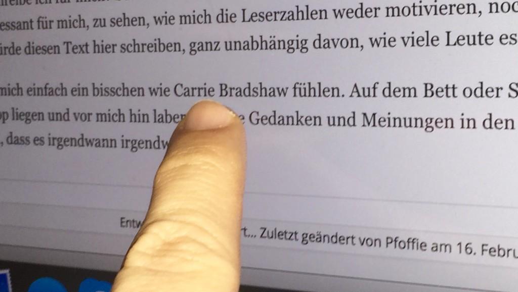 Wie Carrie Bradshaw